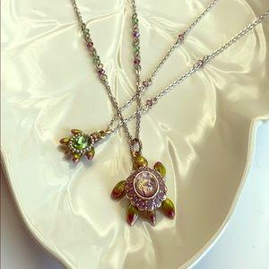 2 Brighton Mama & Baby Turtle Necklaces!